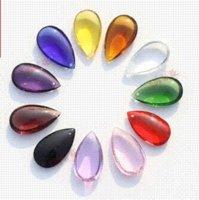 Wholesale 100pcs mm mixed color crystal prism DROPLETS OVAL BAUBLE lighting pendant part pendant light led pendant lighting discount