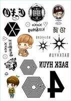 arm star tattoos - new exo wolf Temporary tattoo stickers body face arm fans star warterproof stickers