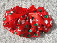 Wholesale Baby diaper cover satin bloomer with red bow dot green baby clothing baby girl bloomers KP SB062