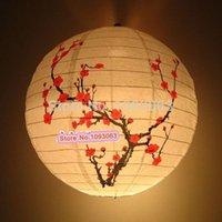 bamboo lanterns - Festive Lantern Hanging Lampshade Restaurant Home Decor Round Plum Bamboo Christmas New Year