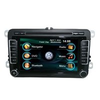 Wholesale OEM for VW TOURAN In Dash car radio GPS navigation free map car DVD player Ipod bluetooth Digital TV rear camera