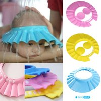 Wholesale 1 X New Adjustable Baby Kids Shampoo Bath Bathing Shower Cap Hat With Protect Ear Wash Hair Shield Colors