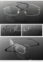 Wholesale New Arrival Freeshipping Best selling fashion alloy optical eyeglasses metal rimless frame ready made silhouette