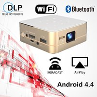 Wholesale 4500lumens LED Video HD Mini Pico Projector K Decoding DLP Display Portable with Android Bluetooth Wifi mAh Battery