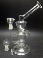 oil - Glass Recycler Amazing vortex Recycler Glass concentrated oil rigs Glass oil dabbers Glass bongs with tyre perc mm