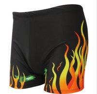 Wholesale 2015 Flame trunks Men s boxer hot spring swimming trunks The beach bathing suit swimwear men swimwear swimwear men Gabalnara