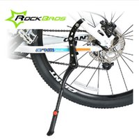 Wholesale ROCKBROS Adjustable Aluminum Bike Bicycle Bicicleta Side Stick Stand Kickstand Accessories Black