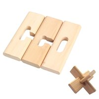 Wholesale Funny Chinese Traditional Wooden Intelligent Puzzle Lock Toy Adult Children