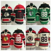 Sewing Stitch - Factory Outlet Patrick Kane Old Time Chicago Blackhawks Hockey Hoodie Jersey Sweatshirt Jerseys Stitched sewn Numbering Lettering