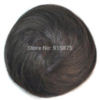 Wholesale one piece black color clip on hair bun chignons straight bun hairpiece synthetic hairpieces for women high quality