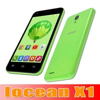 Wholesale high quality Original iOCEAN X1 Mobile Phone Android MTK6582 Quad Core Inch IPS Dual SIM Card GB RAM GB ROM MP G WCDMA GSM fre