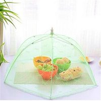 Wholesale High Quality Food Covers Umbrella Anti Fly Mosquito Kitchen diameter cm C cooking Tools meal Hexagon gauze table food cover