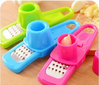 Wholesale Random Color Cooking tools Kitchen Utensils Accessories Creative Multi Functional Mini Ginger Garlic Grinding Grater Planer Slicer Cutter