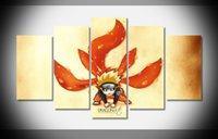 art poster gallery - P3027 Naruto Chibi tails Poster home decor stretched framed canvas print art HOT gallery wrap home wall decor handmade print