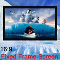 Wholesale Luxury Top Rank Home Theater Matte White PVC surface inch Wide Fixed Frame Projection Projector Screen