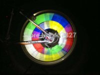 Wholesale 48 Multicolor Bike Motorcycle Wheel Steel Wire Spoke Reflector Reflective Protective Safety Warning Stripe Riding at Night M52171