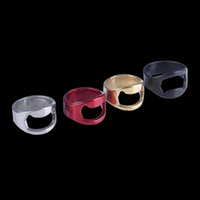beer rings - Finger Ring Bottle Opener Stainless Steel Beer Opener Colors Ring Opener Black Silver Red Gold