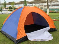 Wholesale 200x145x110cm outdoor camp floding person hiking tent single layer beach tent sport camping tent mixed color randomly send
