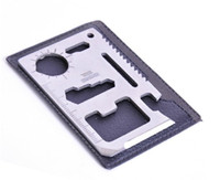 Wholesale Outdoor multi tool in pocket tools wallet Ninja Army knife wallet ninja universal multifunction outdoor survival tool H0175