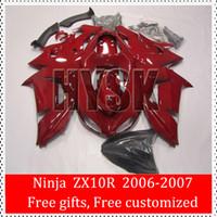 abs blood - New Motorcycle Parts Of Kawasaki Ninja ZX10R ZX R Glossy Blood Red Racing Fairing Kits Free Custom Paint ABS
