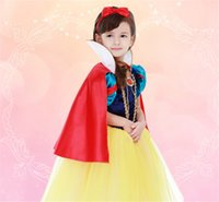 Wholesale 2016 the Spring type With princess cloak girls skirts show girls dress Snow White cloak dress