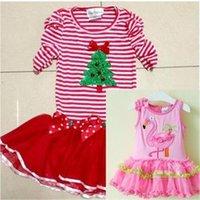 Cheap Children's clothing rare editions baby girls bow sparkling diamond christmas flamingos party princess tutu dress