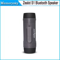 Wholesale Zealot S1 Wireless Waterproof Portable Bluetooth Speaker with Power bank And Flashlight Multifunctional Sport Speaker in stock