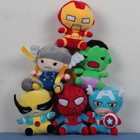 Wholesale Retail High quality Cartoon doll cm Super Hero Spider Man Thor Wolverine Iron Man Captain America Avengers plush toys