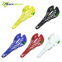 Wholesale RockBros Spider Design ABS Saddle Breathability Saddle Road Bike MTB Mountain Bicycle Parts Saddle Color