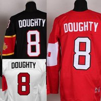 Cheap Factory Outlet, Customized Olympic 2014 8# Drew Doughty Men's Red ,Black,White Canada stitched Hockey Jersey