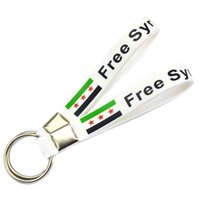 away design - Shipping Free Syria Silicon Rubber Keychain for Give Away Gifts Custom Design Are Welcome