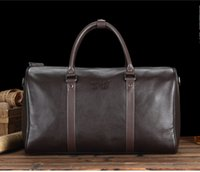 leather weekend bags - new arrival Classic designer cowhide genuine leather men travel bag carry on luggage weekend duffel sports bag keepall bags