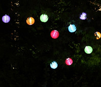 solar chinese lantern - Chinese lanterns Style LED Solar Lamps Paper Lantern Garden Courtyard Ball Light for Christmas Wedding Party Decorations supplies