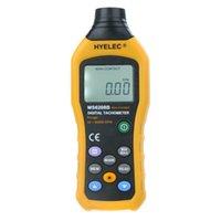 Wholesale Non Contact LCD Display Digital Tachometer Test Meter Contas De Rpm Air Flow Speedometer HYELEC MS6208B order lt no track
