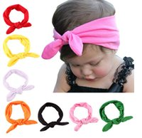 head head tie - Baby Toddler Pre tied Head Scarfs Bunny Ear Cotton Headband sailor top knot headband baby tie knot headwrap