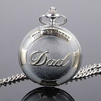 Wholesale hot Sale High Quality Dad Pocket Watch Quartz Restoring Ancient Men Father s Day Best Gift