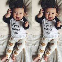 baby cotton vest - 2016 Toddler Kids Baby Girls Outfits Long Sleeve T shirt Pants Clothes Set Y
