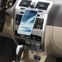 Wholesale Universal Car Phone holder usb charger cigarette lighter Mount Stand for Samsung Galaxy S2 S3 S4 s Motorala Lenovo LG ZTE TCL Xiaomi