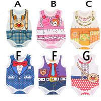 newborn vests - 2015 New Style Summer Newborn Baby Child Toddler Girl Boy Infant Japan Anpanman Clothes Girl Superman Striped Vest Bodysuit S0140294