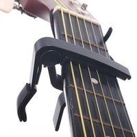 Wholesale Cheap Price Guitar Capo Made of Aluminium alloy Silver or Black Color Top Quality Electric Acoustic Guitar Capo F0042