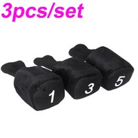 Wholesale 3pcs set Black Long Neck Golf Club Head Covers Advanced Design Headcover Protect