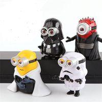 Wholesale 2016 New Minion Star Wars Darth Maul Luke Skywalker PVC Action Figures set in box Toys set