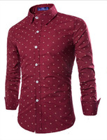 Wholesale men casual shirt mens fashion high quality Long Sleeve Shirts Men Slim Casual picture Design stand collar long sleeves shirts