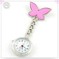 Wholesale Fashion Pocket Butterfly steel quartz Medical Nurse Doctor watch new