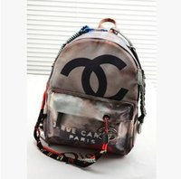 canvas backpacks - personalized graffiti shoulder bag new brand lady casual denim canvas backpack