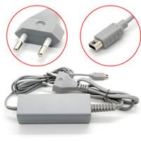 al por mayor cargador de juego-US / UE Plug 4.75V 1.6A Adaptador de corriente alterna Cable cargador para Nintendo WiiU Wii U Consola Gamepad 100-240V AC Cargadores Adaptador Juego