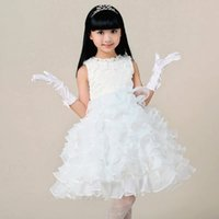 3d pictures - 2015 Ball Gown Flower Girl Dresses D Layer Summer Girls Pageant Dress for Weddings Party Show