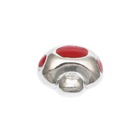 floating charms clip on charms - 2015 New Arrival Clip On Charms Mushroom Silver Plated Enamel Red Fits floating charms lockets Diy Jewelry