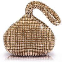 Wholesale Triangle Full Rhinestones Women s Evening Clutch Bag Party Prom Wedding Purse Brand New Good Quality