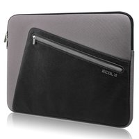 Wholesale ECOLA Elegant Style PU Neoprene Laptap inner bag for Macbook Air and most of the quot notebook gray